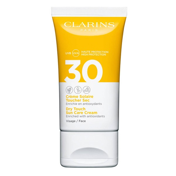 Image of Clarins Crème Solaire Visage Dry Touch Sun Care Cream Face UVB/UVA SPF30