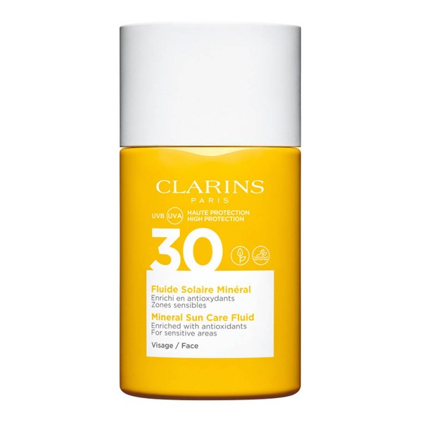 Image of Clarins Crème Solaire Visage Mineral Sun Care Fluid Face UVB/UVA SPF30