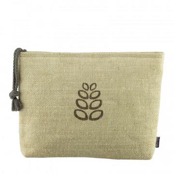 Natural Fiber Big Cosmetic Bag